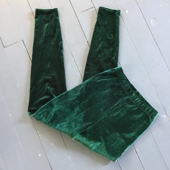 b7e1d309d701f American Apparel Pants | Emerald Green Velvet Leggings | Poshmark